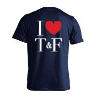 I LOVE Track & Field 半袖プレミアムドライ陸上/ランニングTシャツ