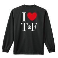 I LOVE Track & Field 長袖ドライTシャツ