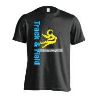 T&F Long Jump 半袖プレミアムドライ陸上Tシャツ