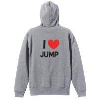 I LOVE JUMP ジップパーカー 裏パイル