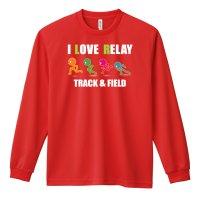 I LOVE RELAY 長袖ドライTシャツ
