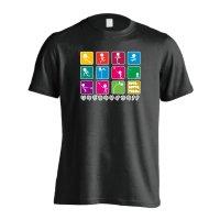 アイコンデザイン リクジョウサイコウ! 半袖プレミアムドライTシャツ
