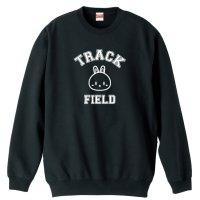 カレッジデザイン風 TRACK & FIELD 陸上トレーナー 裏パイル