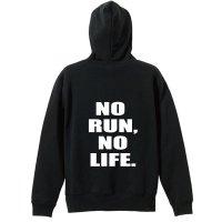NO RUN, NO LIFE. 陸上ジップパーカー 裏パイル