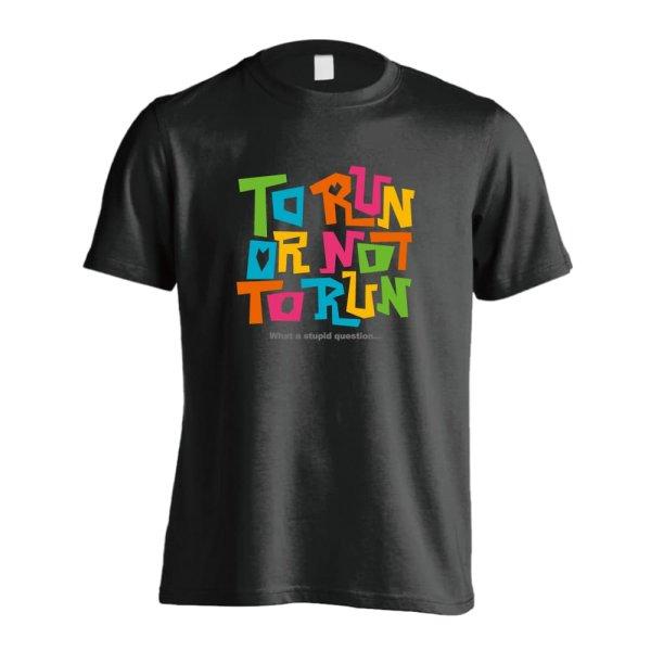 画像1: TO RUN OR NOT TO RUN 半袖プレミアムドライ陸上/ランニングTシャツ