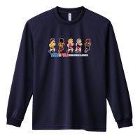 8-bit風 陸上ゲーム ラン編 長袖ドライ陸上/ランニングTシャツ