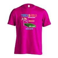 8-bit風 陸上ゲーム 走り高跳び編 半袖プレミアムドライTシャツ
