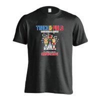8-bit風 陸上ゲーム 大会編 半袖プレミアムドライ陸上/ランニングTシャツ