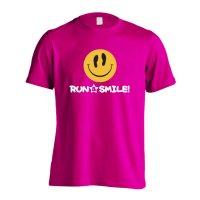 RUN & SMILE! 半袖プレミアムドライ陸上/ランニングTシャツ