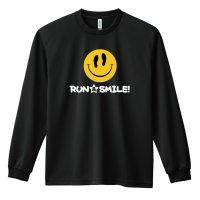 RUN & SMILE! 長袖ドライ陸上/ランニングTシャツ
