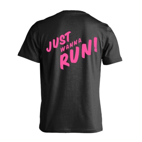 画像1: JUST WANNA RUN 半袖プレミアムドライTシャツ