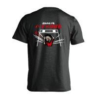 コミック風 恐怖の陸上魂 ハードルばばぁ 半袖プレミアムドライ陸上/ランニングTシャツ